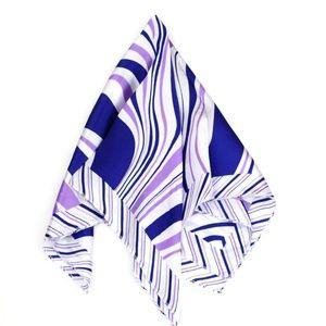 """🌿 Neckerchief Scarf 20"""" Square Purple Stripes"""